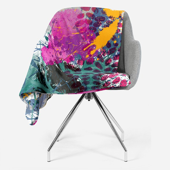 Artist illustration with the title 'Fashion Statement Graphic Image For Fleece Blanket '