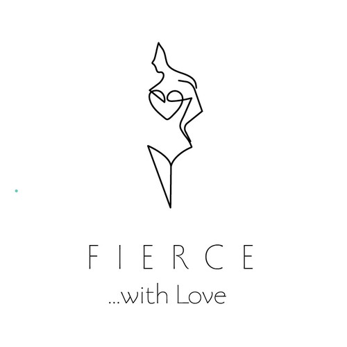 Feminine brand with the title 'Log design for Fierce...with Love'