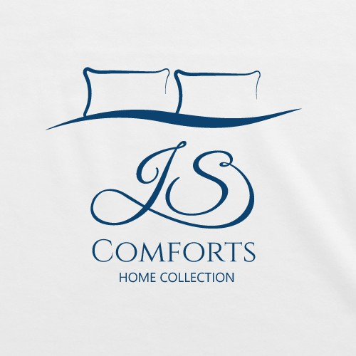 Bedroom logo with the title 'Logo luxury bedding. Comforters, Pillows, Sheets Sets, Mattress Protectors, Pillow Covers, Duvet Covers'