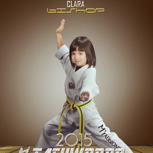 Taekwondo design with the title 'Taekwondo World Championship Kids 2015'