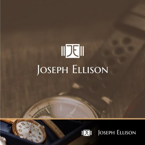 Watch logo with the title 'Logo para comerciante/revendedor de relojes de lujo.'