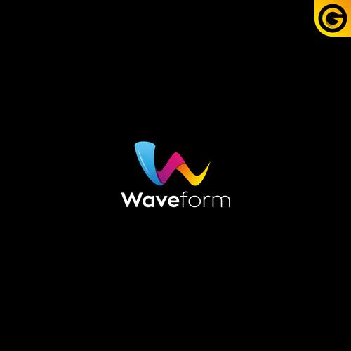 Web design logo with the title 'Waveform'
