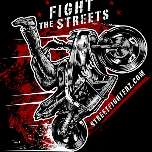Motorcycle t-shirt with the title 'Extreme tshirt design'