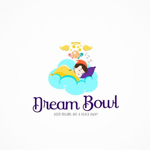 Child's face logo with the title 'Dream Bowl logo'