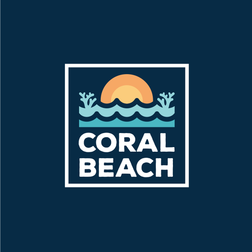 Coral design with the title 'Coral beach'