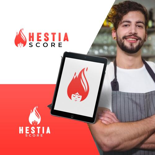Goddess logo with the title 'Hestia Score'