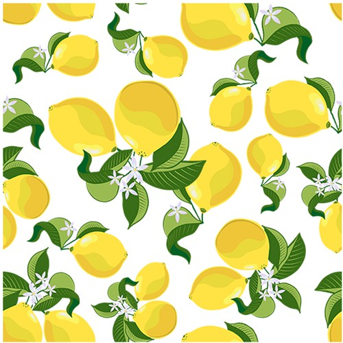 Swimsuit design with the title 'Lemon pattern for swimwear'