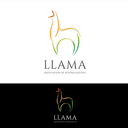 Monoline logo with the title 'llama logo '