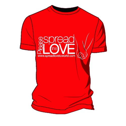 Spread design with the title 'Spread the LOVE tshirt global positive message'