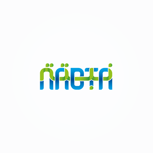 Arabic calligraphy design with the title 'nabta logo'