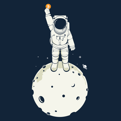Space t-shirt with the title 'To The Moon'