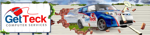 Computer illustration with the title '3D Image of GetTeck Vechicle - Free Pick-up & Delivery'