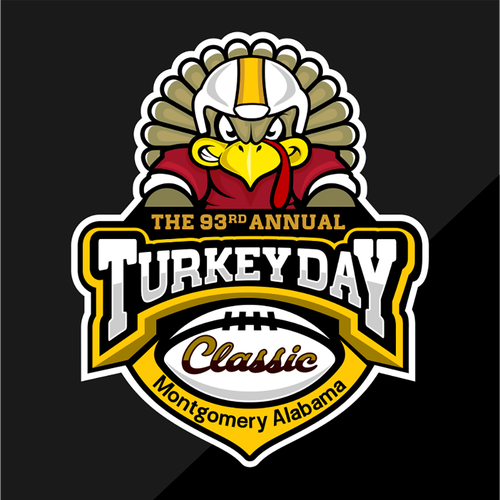 Football logo with the title 'Turkey Day Classic Logo'