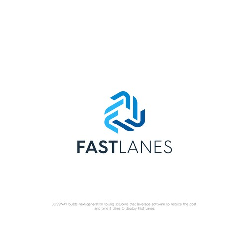 Way design with the title 'Logo For Fast Lanes'