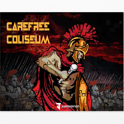 Vinyl illustration with the title 'Carefree Coliseum'