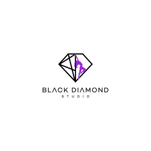 Elegant brand with the title 'Black Diamond Studio'