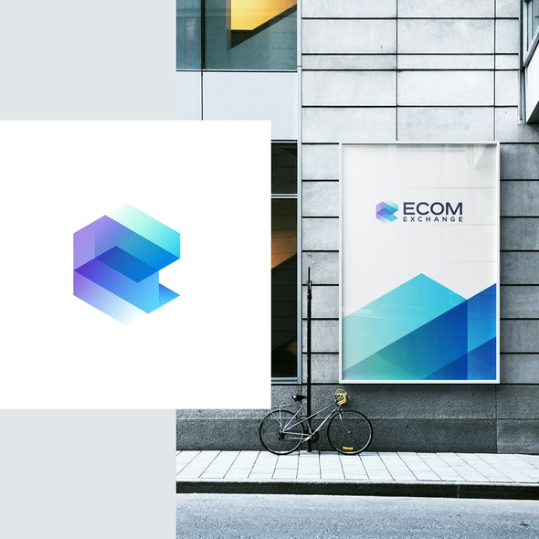 Ecommerce design with the title 'eCom Exchange'