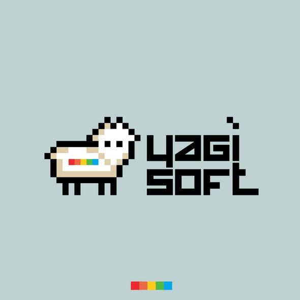 8 bit logo with the title 'yagisoft'