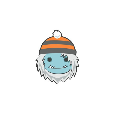 Yeti design with the title 'A Yeti face is needed for a winter apparel company'