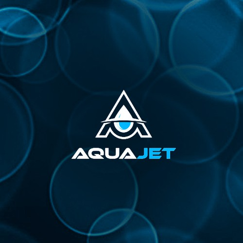 Water logo with the title 'AquaJet'