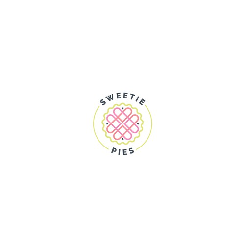Pie logo with the title 'Bakes homemade pies logo'