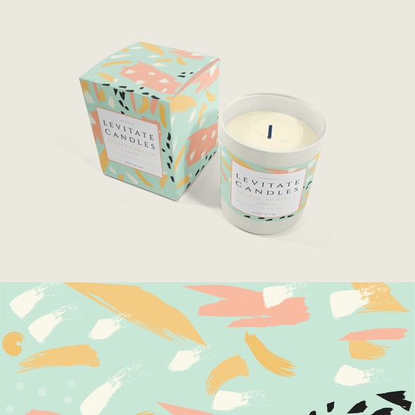 Candle label with the title 'Levitate Luxury Candles '
