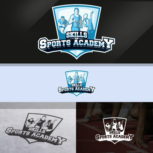 Skills logo with the title 'Sport logo'