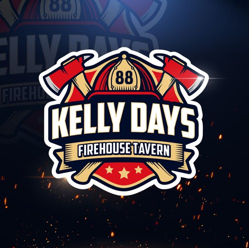 Tavern design with the title 'Kelly Days - Firehouse Tavern (logo) '