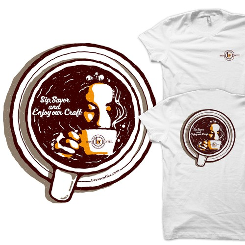 Coffee t-shirt with the title 'Coffee Cup'