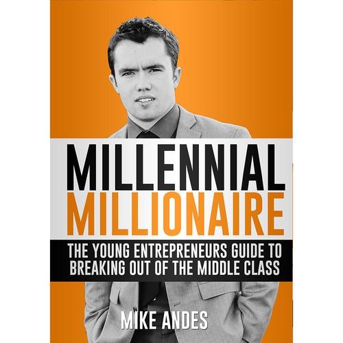 Millionaire design with the title 'Book cover design Millennial Millionaire'