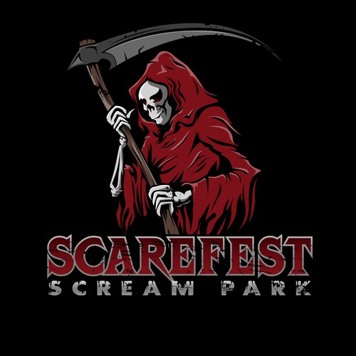 Scream logo with the title 'Haunted House Logo'