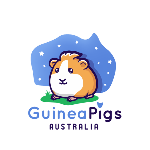 Melbourne logo with the title 'Guinea Pigs Australia logo'