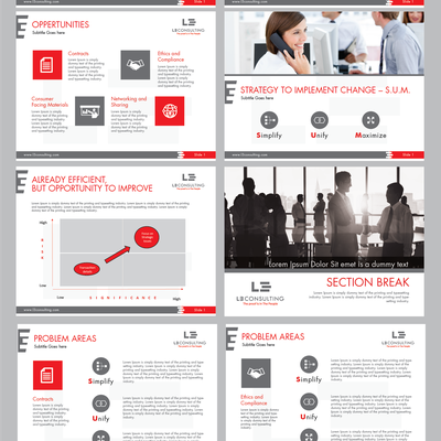 Powerpoint design for LE