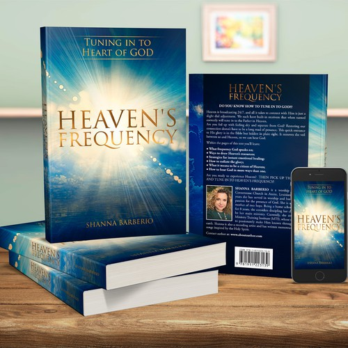 Christian book cover with the title 'Heaven's Frequency'