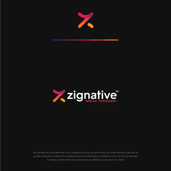 Z logo with the title 'Zignative'