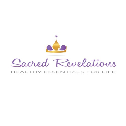 Essential oils logo with the title 'Essential Oil Logo for Sacred Revelations'