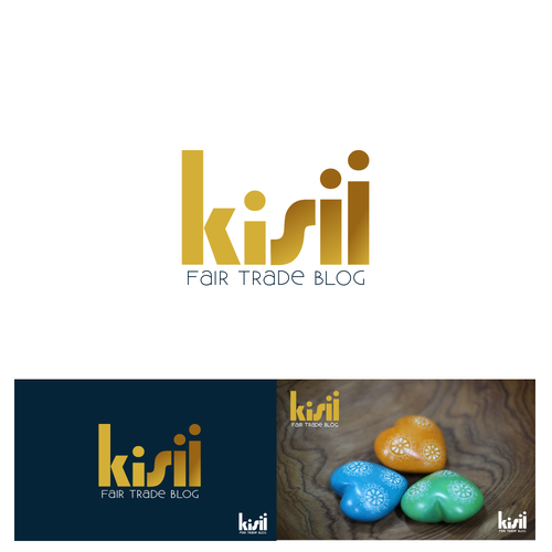 Small business logo with the title 'Logo design for a Fair Trade Blog'