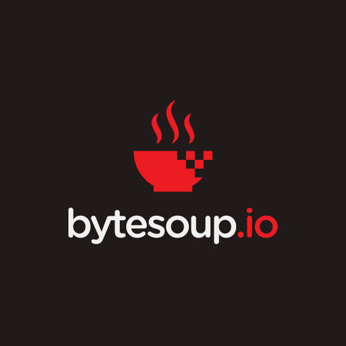 Pixel logo with the title 'Bytesoup Logo'