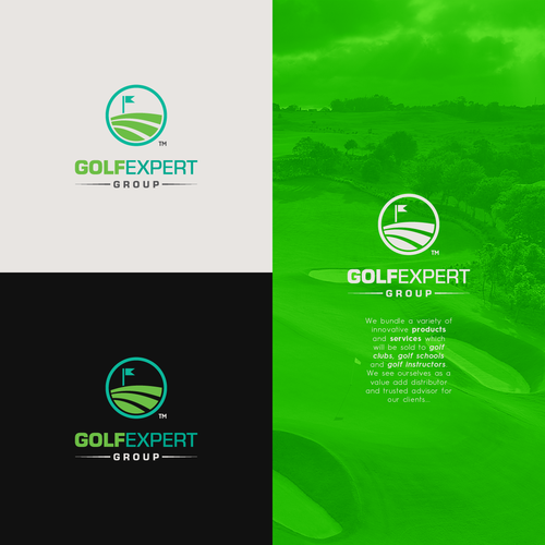 Expert design with the title 'Logo concept for a Golf Company'