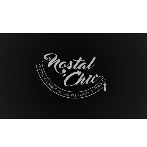 Hearth logo with the title 'nostal chic logo'