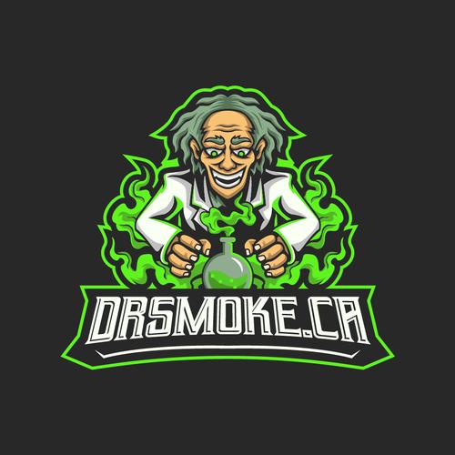 Profile logo with the title 'DR.SMOKE Esport Logo '