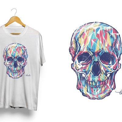 Skull artwork for a fashion label