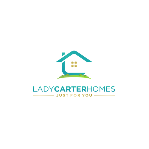 Home furnishing logo with the title 'Clean,creative,modern&powerful logo for Lady Carter Homes.'