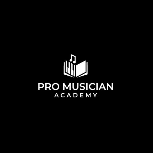 Treble clef logo with the title 'Pro Musician Academy'