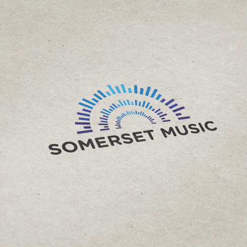 "Studio brand with the title 'Logo concept for musical instrument retail store ""Somerset Music""'"