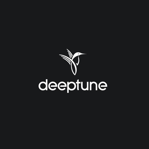 Music app logo with the title 'deeptune'