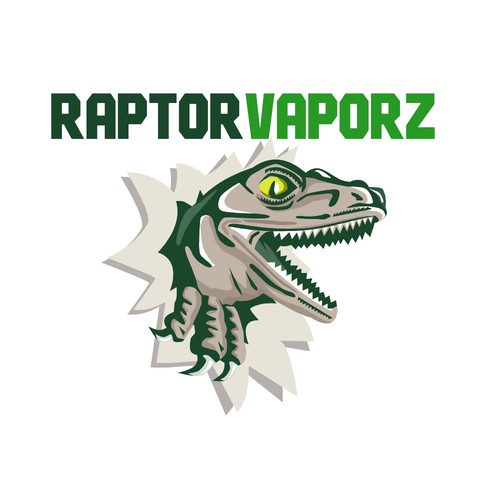 Reptile design with the title 'Raptor Vaporz'