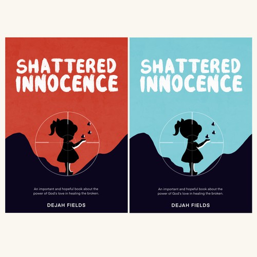 Captivating design with the title 'SHATTERED INNOCENCE (BOOK COVER)'