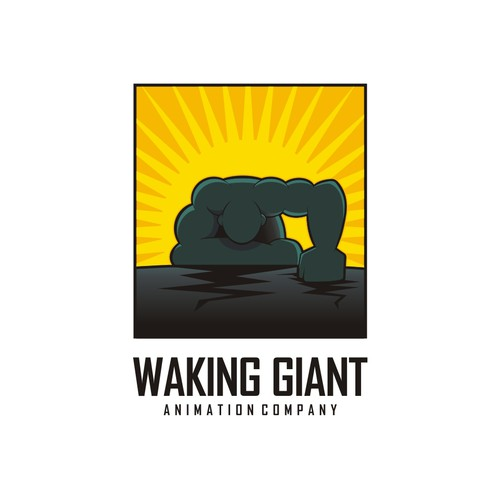 Giant design with the title 'Design a logo for Animation Production Company - WAKING GIANT'