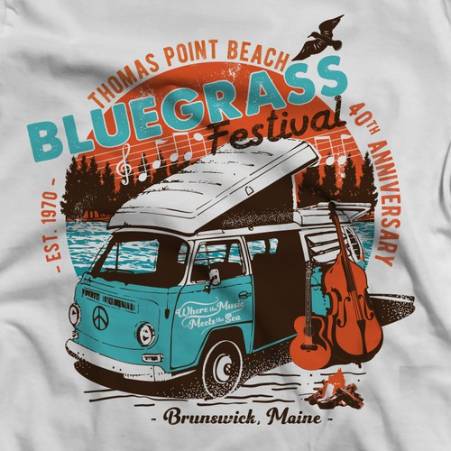 Guitar t-shirt with the title 'Bluegrass Festival'